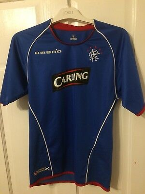 2005/2006 Glasgow Rangers home football shirt 11/12 Years Umbro Carling