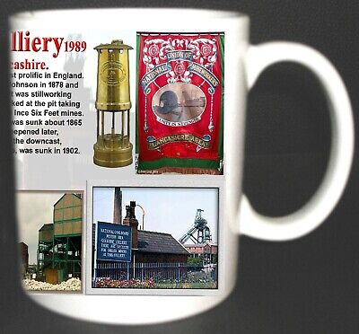 Golborne Colliery Coal Mine Mug. Limited Edition. Great Gift Miners Lancashire