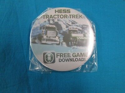 Hess Tractor Trek Free Game Button-Pin