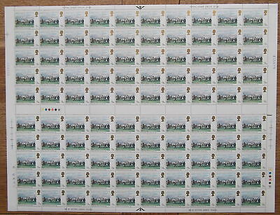 SG1087 1979 Horseracing Paintings Full sheet of 100 x 9p value. Unmounted mint.