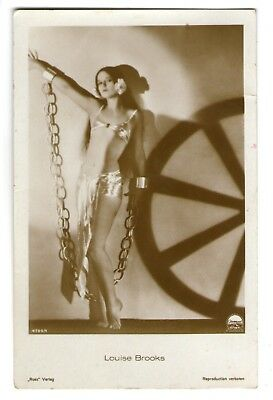Louise Brooks vint sexy Leggy Ross Verlag Photo Postcard