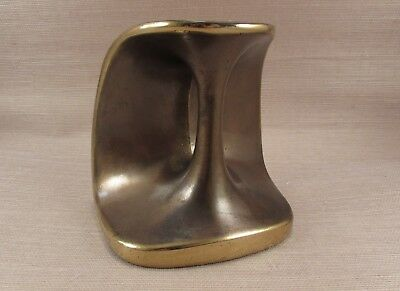 Vintage Mid Century Jenfred Ware Brass Tone Book End - Ben Seibel