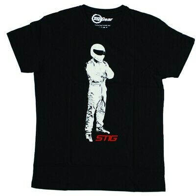Ufficiale Top Gear The Stig T-Shirt Uomo - Nero