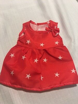 "Fits 15"" 16"" Bitty Baby Alive Doll Clothes Party Dress Costume Patriotic July 4t"