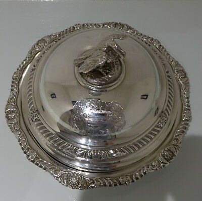 Early 19th Century George IV Sterling Silver Antique Large Entree Dish & Cover
