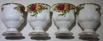 Royal Albert Old Country Roses 4 Eierbecher wie neu