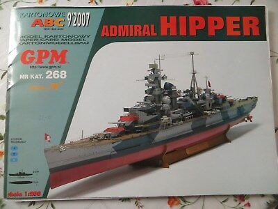Admiral Hipper GPM Kartonmodell 1:200
