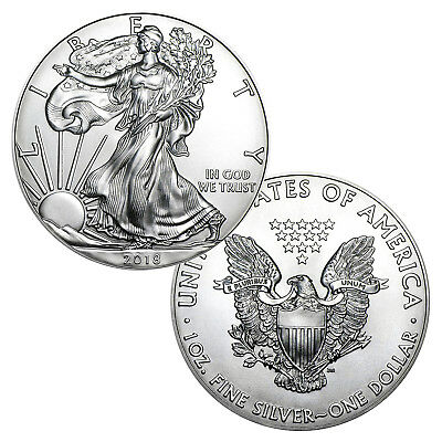 2018 $1 American Silver Eagle Brilliant Uncirculated With Air-Tite Holder