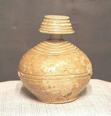 11th Century A.D. Large Khmer Ceramic Bottle from Ancient Angkor Wat