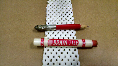 (2) Vintage Bullet Pencil, Diller Drain Tile company - 2 different logo