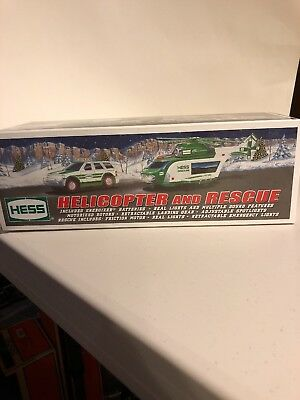 Hess 2012 Helicopter & Rescue Vehicle Complete Brand New In Box
