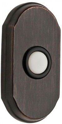 Wired Arch Door Bell Button Surface Mount Hardware Venetian Bronze Finish New