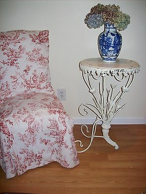 Rare Antique Victorian Plant Stand Tole French Side Table