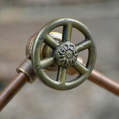 Round Handle VTG  - Antique Brass Finish - Knob - Steampunk Handle - 1/4-20