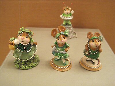Wee Forest Folk Lot of (4) St Patrick's Day pieces including Greetings!