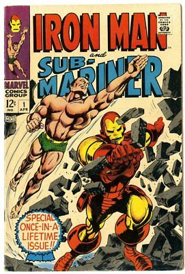 Iron Man & Sub-Mariner #1 VF 8.0 white pages  Marvel  1968  No Reserve