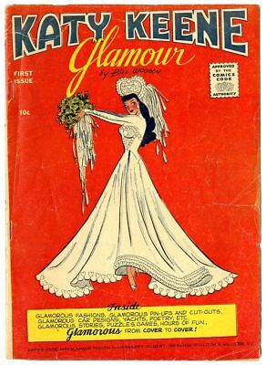 Katy Keene Glamour #1 VG- 3.5  Bill Woggon art  Archie  1957  No Reserve