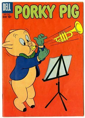 Porky Pig #67 VF 8.0 white pages  Dell  1959  No Reserve