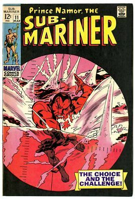 Sub-Mariner #11 NM- 9.2 white pages  Marvel  1969  No Reserve