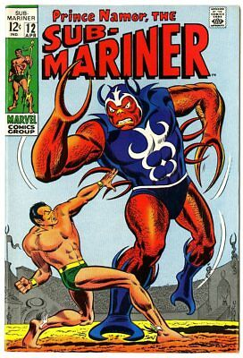 Sub-Mariner #12 NM- 9.2 off-white pages  Marvel  1969  No Reserve