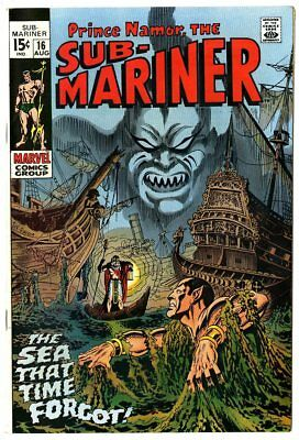 Sub-Mariner #16 NM- 9.2 white pages  Marvel  1969  No Reserve