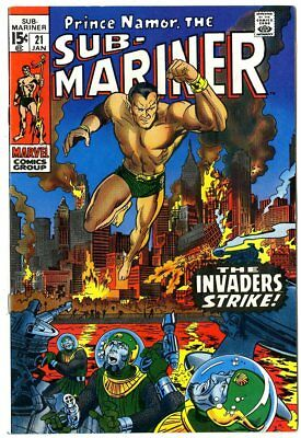 Sub-Mariner #21 NM 9.4 off-white pages  Marvel  1970  No Reserve