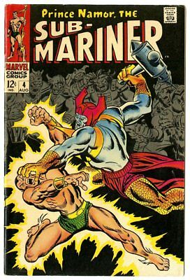 Sub-Mariner #4 FN- 5.5 ow/white pages  vs. Attuma  Marvel  1968  No Reserve