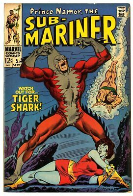Sub-Mariner #5 FN 6.0  vs. Tiger Shark  Marvel  1968  No Reserve