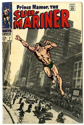 Sub-Mariner #7 FN+ 6.5 white pages  Photo Cover  Marvel  1968  No Reserve
