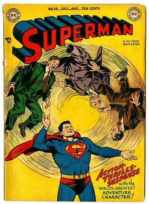 Superman #59 VG- 3.5 ow/white pages  DC  1949  No Reserve