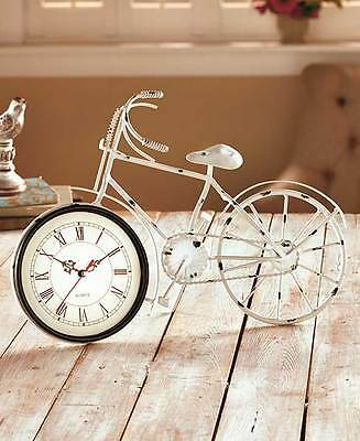 Vintage Nostalgic Rustic Old Fashioned Bicycle Wall Clock Distressed Accent Art