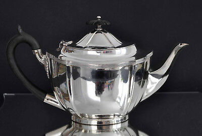 Vintage Sheffield Silver Plated Tea Pot Cross Arrows by William Hutton & Sons