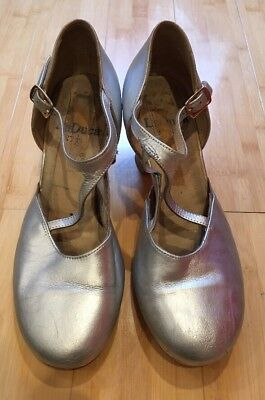 """LaDuca Alexis 2.5"""" Characrer Heels Size 37.5 Painted Silver"""