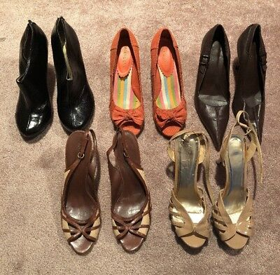 Lot of Womens shoes 10M Nine West Aldo Madden Girl Brown Nude Black Booties Pump