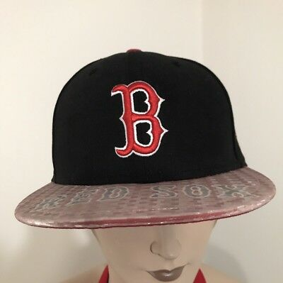 reputable site ae3e6 04317 New Era 59FIFTY Rare Sample Boston Red Sox MLB Fitted Cap 7 1 2 Holographic