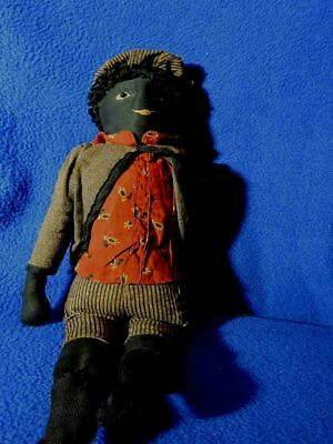 Old Cloth Black Doll - Very Old - No Reseve Auction