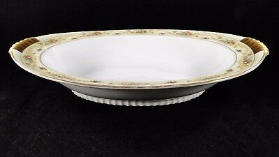 "Vintage The Windsor Shape Meito China 22KT Detail 12"" Oval Serving Bowl Japan"