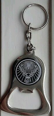 Jagermeister Steel Bottle Opener Key Chain Fob ring FREE SHIPPING