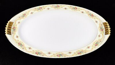 "Pretty Vintage The Windsor Shape Meito China 14-1/2"" Oval Serving Platter Japan"