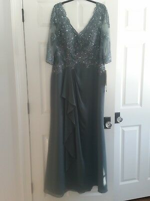 Nwt~Montage By Mon Cheri - Steel Gray Dress (( Mother Of The Bride ))