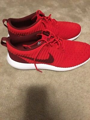 Nike Roshe Two Flynit Mens Shoe Red/white/black Size 13 Worn Once