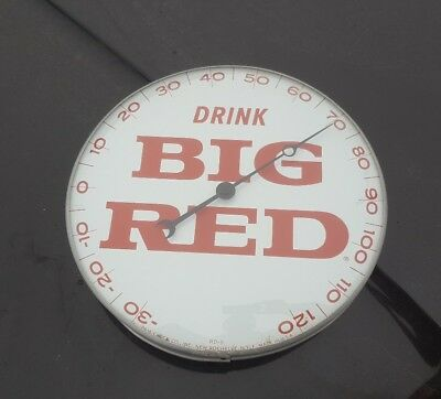 """Vintage Drink Big Red Soda 12"""" Round Pam Thermometer Sign Waco Texas TX"""