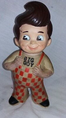 "Vintage Big Boy Restaurant Advertising Rubber Doll Coin Bank 1973 Marriott 9""."