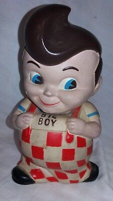 VINTAGE BIG BOY VINYL PLASTIC TOY COIN BANK 8 1/2 Inches tall. Niagra Plastics.