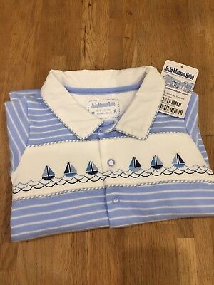 Jojo Maman Bebe Boys embroidered boat Outfit 6-9Months, BNWT, RRP £19.99