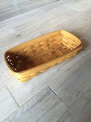 """Longaberger """"Bread"""" Basket in Classic Stain"""