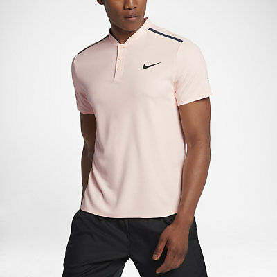 Nike Roger Federer RF Advantage Men's Tennis Polo 854611 658 Sunset Tint Size M