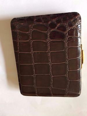 Vintage Classy Deco Mens Textured Leather Card Case Or Bank Notes Case Wallet