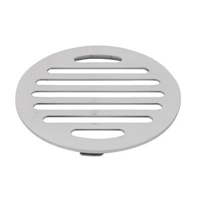 Household Round Water Hair Filter Shower Floor Drain Cover Lid Silver Tone