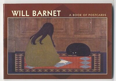 WILL BARNET PAINTINGS, 30 Postcards in Book,  Works from 1940s-1990s, NEW